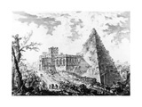 View of the Pyramid of Caius Cestius  from the 'Views of Rome' Series  C1760