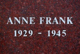 The Plinth of the Statue of Anne Frank  Merwedeplein  Amsterdam