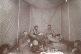 Members of the Arabah Survey Expedition Relaxing in their Tent  1883
