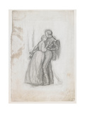 Study for the Figures in 'The Black Brunswickers'  C1860