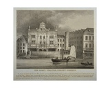 View of the Duke's Theatre  Dorset Gardens  from the River Thames  1814