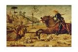 St George Killing the Dragon  1502-07 (Detail)