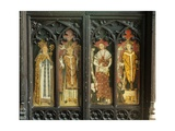The Four Latin Doctors of the Church  Detail of the Rood Screen  St Thomas Church  Foxley …