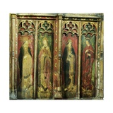 Rood Screen with Four Male Figures  Church of St Helen  Gateley  Norfolk  Uk