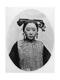 Frontview of Coiffure of a Married Manchu Matron  C1867-72