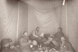 Members of the Arabah Survey Expedition in their Tent  1883