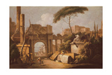 Ancient Ruins with a Great Arch and a Column  C1735-40