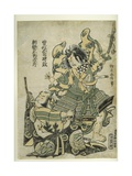 Asaina Saburo Yoshihide Pulling the Armour of Soga No Goro  C1777