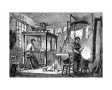 A Lyonnais Weaver and His Family  C1880