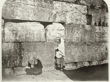 Exterior of Haram-Ash-Sharif  Detail of Masonry at Wailing Place  C1864-65