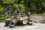 Alice in Wonderland Statue at Mid Park Quadrant in Central Park  New York