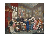 Marriage a La Mode  Plate I  the Marriage Settlement  Illustration from 'Hogarth Restored: the…