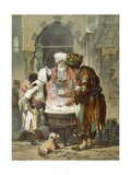 Woman at a Street Fountain (Sebil)  from 'stamboul  Souvenir De L'Orient'  Published 1865