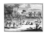 Sacrifice That the Floridians Make to the Sun of their First Born  Illustration from 'Bernard…