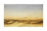 Scene in Desert of Nubia  1835