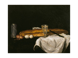 Still Life with Bread and Eggs  1865