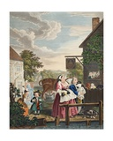 Times of the Day: Evening  Illustration from 'Hogarth Restored: the Whole Works of the Celebrated…