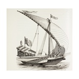 Pontifical Galley with Sails  Oars and Heavy Artillery  C1808