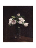Blush Roses in a Glass  C1860-1900
