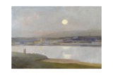 Moonrise over Hayle  from Lelant  C1892