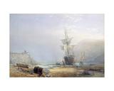 A Hazy Morning on the Coast of Devon  1853