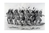Native American Bear Dance  Engraved by John Mcgahey