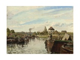 Barge on the Seine at Bougival  1871