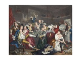 The Orgy  Plate III from 'A Rake's Progress'  Illustration from 'Hogarth Restored: the Whole…