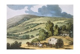 Taunton Vale  Somersetshire  from 'sketches from Nature'  Published 1822