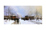 Porte Maillot in Winter  Paris  1899