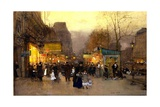 Porte St Martin at Christmas Time  Paris  C1890