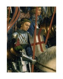 Detail of St George  from the Knights of Christ  from the Left Side of the Ghent Altarpiece  1432
