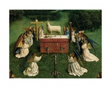 The Adoration of the Mystic Lamb  from the Ghent Altarpiece  Detail of Lower Half of Central…