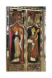 Saints Augustine and Ambrose  Detail of the Rood Screen  St Catherine's Church  Ludham  Norfolk  Uk
