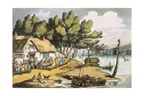 View Near Newport  Isle of Wight  from 'sketches from Nature'  Published 1822