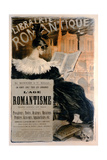 Librairie Romantique' Poster Advertising a Series of Books on the History of Romanticism  1887