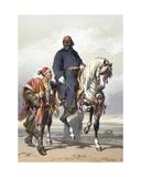 Eunuch of the Seraglio on a Fine Arab Horse  1865