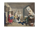 The Distressed Poet  Illustration from 'Hogarth Restored: the Whole Works of the Celebrated…