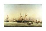 Queen Victoria Landing at Brighton  C1843