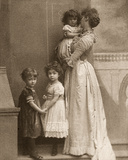 Violet  8th Duchess of Rutland  Holding Letty  with Lord Haddon and Marjorie