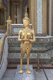 Statue of Kinnari  Traditional Symbol of Feminine Beauty at Wat Phra Kaeo  Thailand