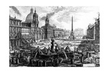 View of the Piazza Navona  from the 'Views of Rome' Series  C1760