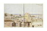 Tabale from Our Lodging Looking South  from 'Mokulla Hadramaut'  1893
