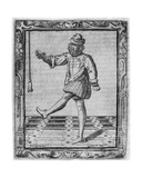 Courtly Dancer  Illustration from 'Nuvone Inventioni Di Balli' by Cesare Negri  Print Made by…