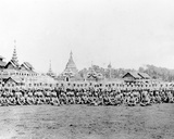 British Regiment in Front of Wuntho Palace and Buddhist Monastery  1891
