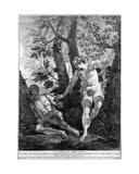 Adam and Eve  Engraved by Pietro Monaco  C1741-52