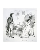 The Efforts of His Aunt'  Illustration from 'Pride and Prejudice' by Jane Austen  Edition…