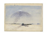 Wagon Stuck in a Salt Plain  1862