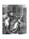 The Young Thomas Aquinas Chases a Temptress from His Room