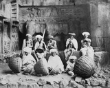 Band of Musicians in the Karla Caves  C1860s-90s